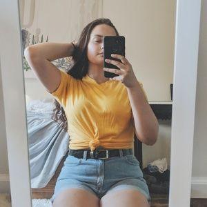 Oversized Yellow Tee